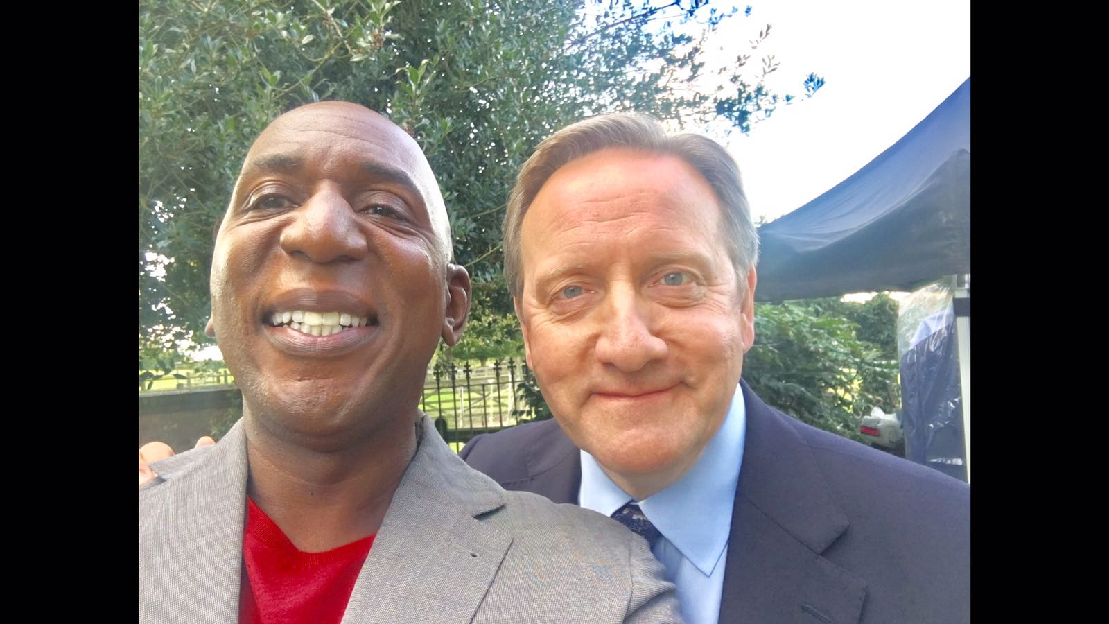 Colin filming Midsomer Murders with Neil Dudgeon.
